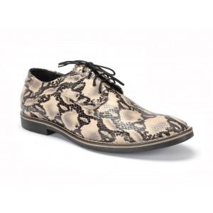 Pánske kožené topánky COMODO E SANO na viazanie na viazanie
