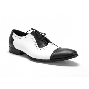 Pánske kožené topánky COMODO E SANO na viazanie