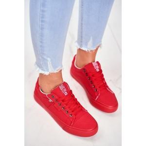 Štýlové dámske tenisky BIG STAR v červenej farbe