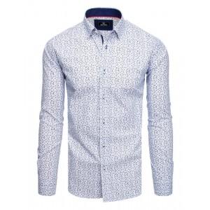 Biela pánska vzorovaná košeľa k obleku