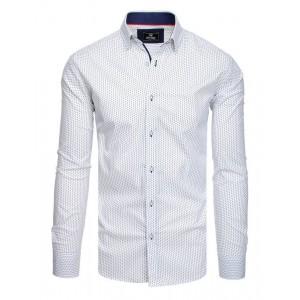 Pánska spoločenská košeľa slim fit bielej farby