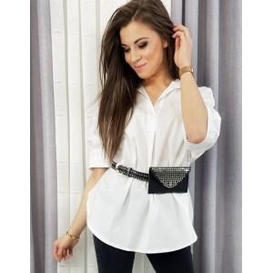 Elegantná voľná dámska košeľa v bielej farbe