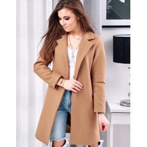 Elegantný dlhý dámsky kabát na jar