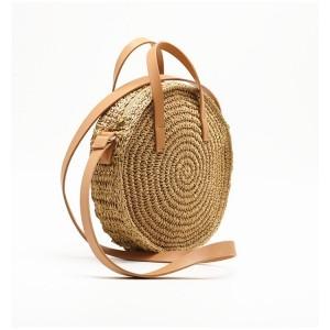 Okrúhla dámska pletená kabelka na leto