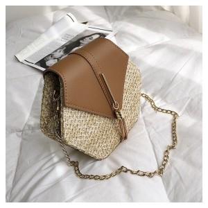 Moderná dámska pletená kabelka na rameno