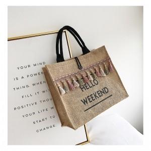 Pletená dámska kabelka na nákup