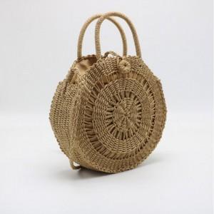 Uzamykateľná dámska pletená kabelka v tvare kruhu