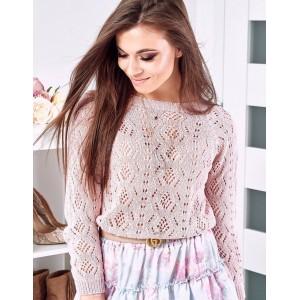 Trendový dámsky pletený sveter ružovej farby