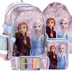 Školská taška s motívom Ľadové kráľovstvo