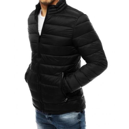 Pohodlná pánska prechodná bunda s dvoma vreckami na zips