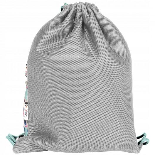Veselá školská taška v ružovej farbe s lamou