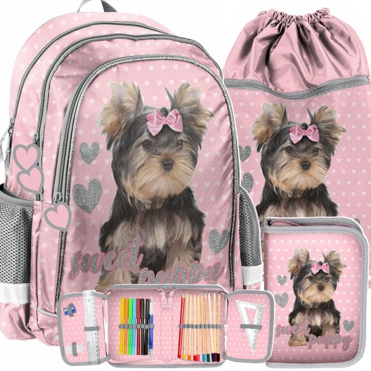 Školská taška s yorkshirom