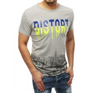 Svetlo sivé pánske letné tričko s krátkym rukávom