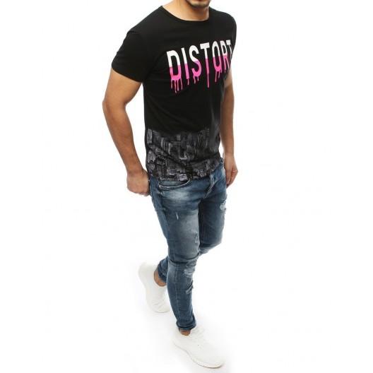 Čierne štýlové tričko s originálnou potlačou