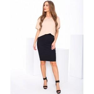 Štýlová dámska ceruzková sukňa v čiernej farbe