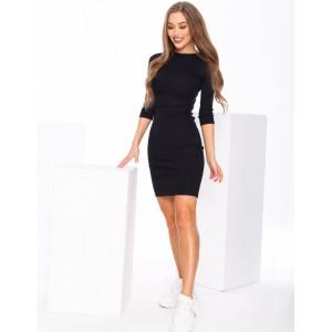 Úzke dámske šaty v čiernej farbe