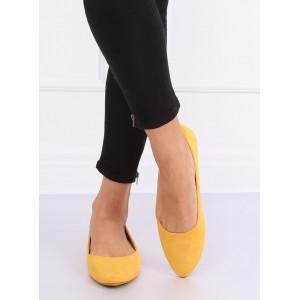 Trendy dámske jarné baleríny v žltej farbe