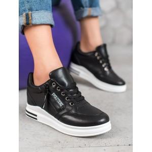 Vysoké dámske botasky v čiernej farbe pre dámy