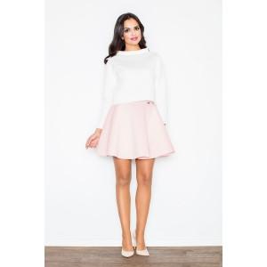 VEĽKOSŤ L Formálne dámske sukne svetlo ružovej farby