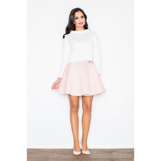Formálne dámske sukne svetlo ružovej farby
