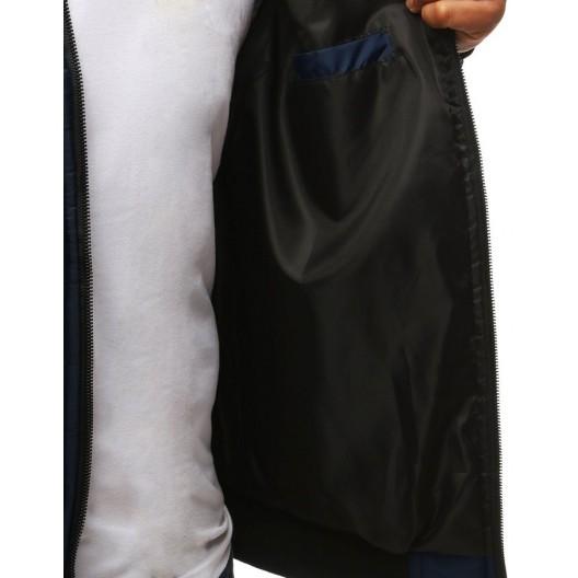 Prešívaná pánska prechodná bunda bez kapucne