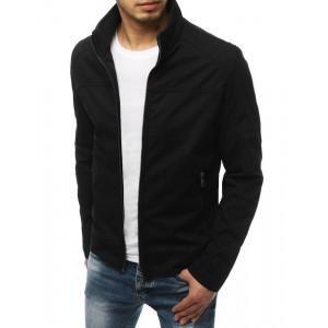 Pánska štýlová prechodná bunda v čiernej farbe