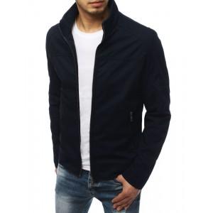 Pánska prechodná bunda na zips v modrej farbe