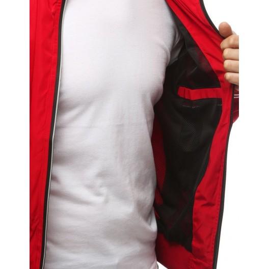 Trendová červená prechodná bunda s podšívkou