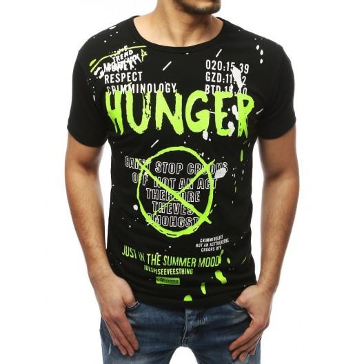 Čierne pánske tričko s originálnou potlačou