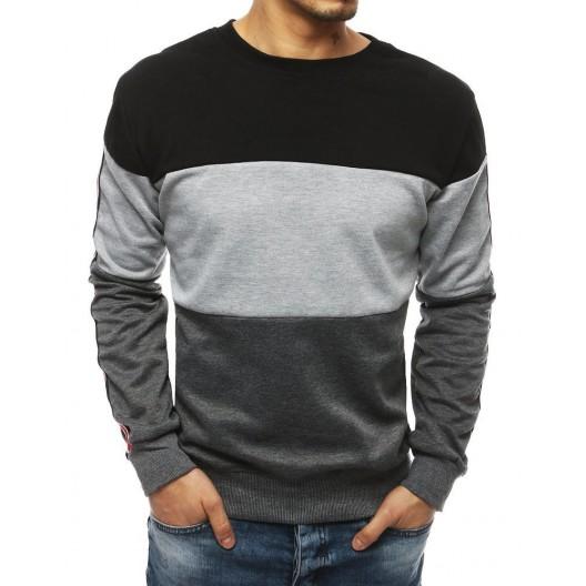 Štýlová mikina sivej farby pre pánov
