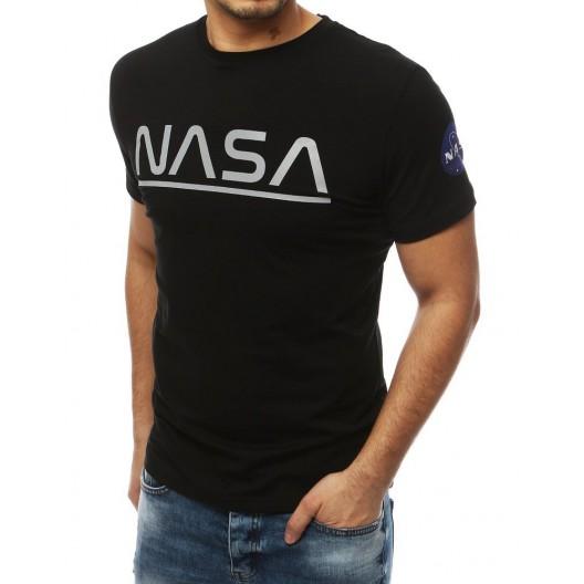 Čierne pánske tričká s originálnym nápisom