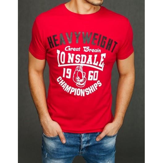 Moderné pánske tričko červenej farby
