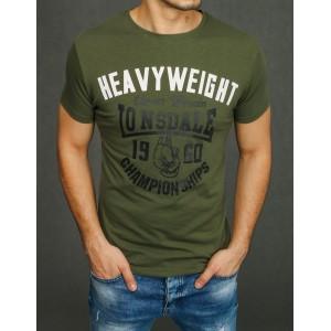 Športové pánske tričko zelenej farby s krátkym rukávom