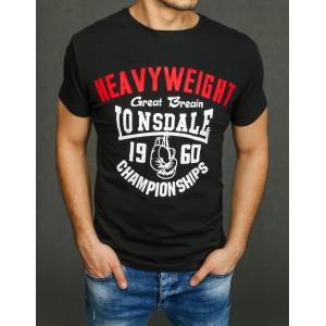 Čierne pánske tričko s krátkym rukávom na leto