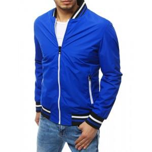 Štýlová jarná bunda modrej farby pre pánov