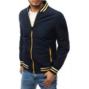 Športová pánska bunda bez kapucne s dvoma vonkajšími vreckami