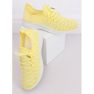 Dámske letné tenisky na vysokej podrážke v žltej farbe
