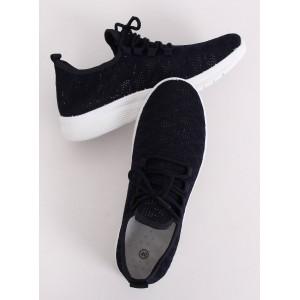 Čierne športové dámske botasky v čiernej farbe