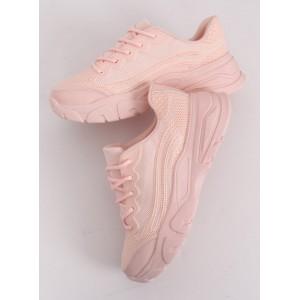 Kotníkové dámske tenisky v ružovej farbe