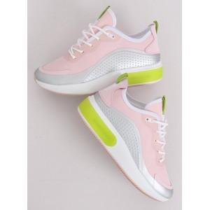 Vysoké dámske tenisky v ružovej farbe na leto