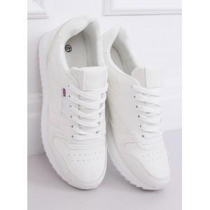 Originálne dámske športové topánky v bielej farbe