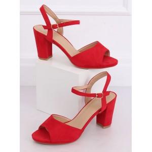 Letné dámske štýlové sandále v červenej farbe