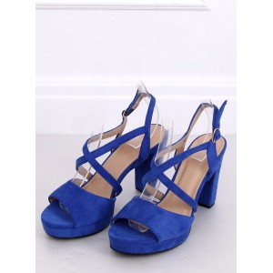 Semišové dámske sandále na leto na vysokom podpätku
