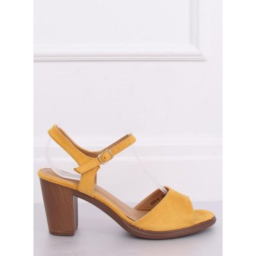 Štýlové dámske sandále v žltej farbe na leto