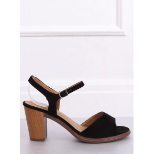 Dámske sandále v čiernej farbe na leto