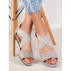 Originálne sandále na leto v sivej farbe pre dámy