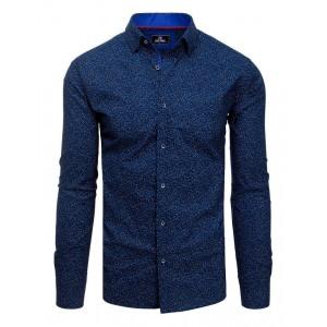 Štýlová modrá pánska košeľa k obleku
