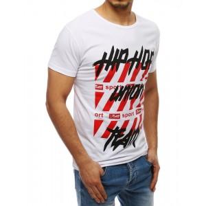 Tričko s krátkym rukávom pre pánov v bielej farbe