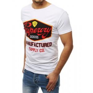 Tričko s potlačou pre pánov v bielej farbe