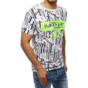 Biele originálne pánske tričko s krátkym rukávom